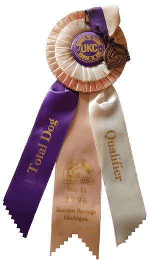 UAGI UCD CH Cher Car�s Zodiac TOTAL DOG ribbon from the 1996 Premier