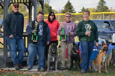 Cheryl Carlson & Dutch Shepherd �Becker� again winning the MI K-9 Challenge Protection Dog Tournament (for the 3rd year in a row) in 2013.  More satisfying to Cheryl is that once again, all 3 dogs that placed in the Advanced Division (1st-Dutch Shepherd �Becker�, 2nd-Dutch Shepherd �Siren� & 3rd-Belgian Malinois �Mako�) are Cher Car Kennels dogs!