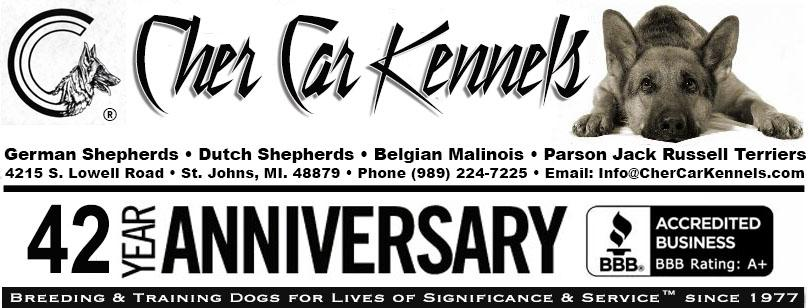 Cher Car Kennels - Breeding & Training Dogs for Lives of Significance & Service� since 1977